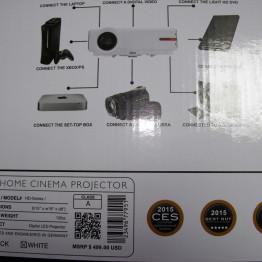 Rigal Electronics RD-808 HD led projektor